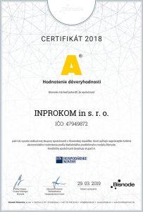 certifikat A bisnode
